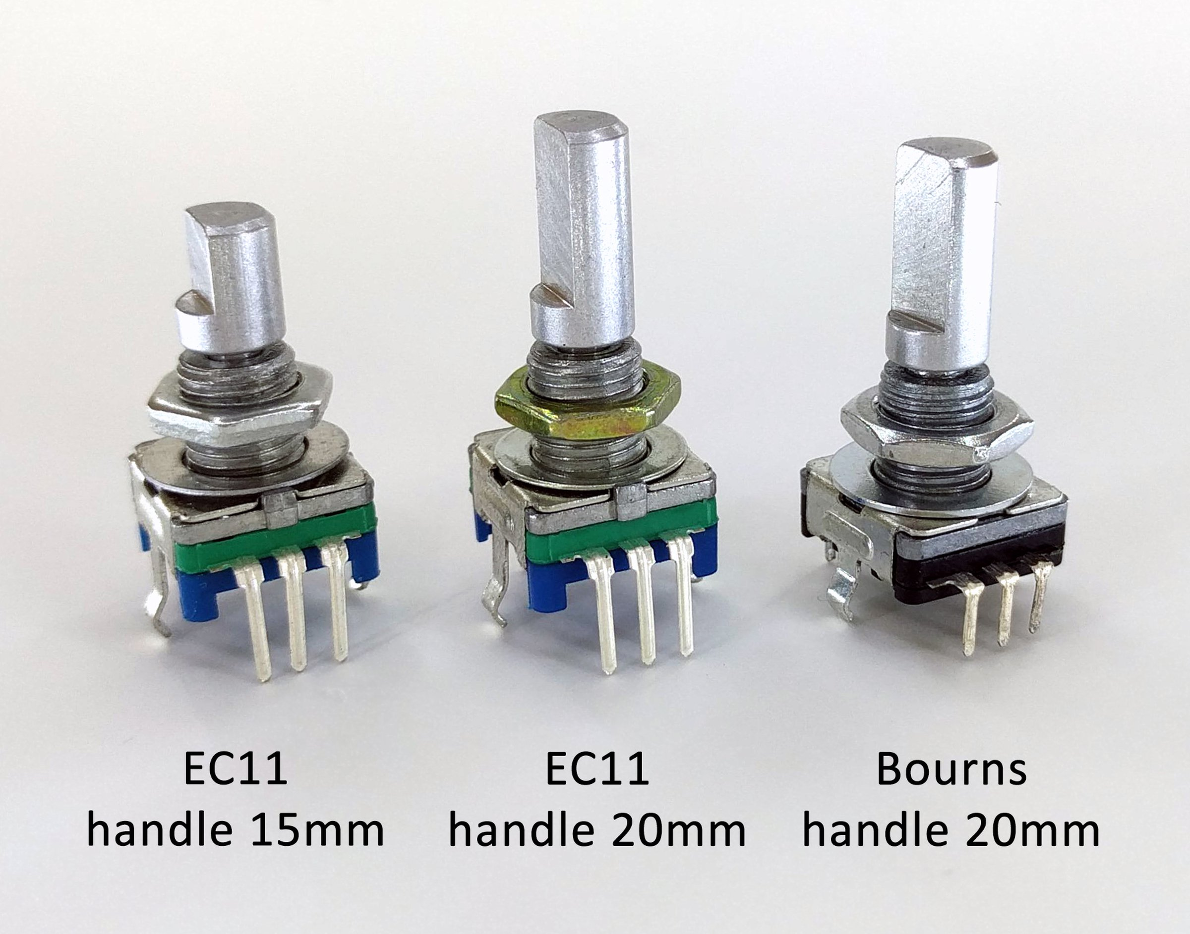 Different types of available encoders
