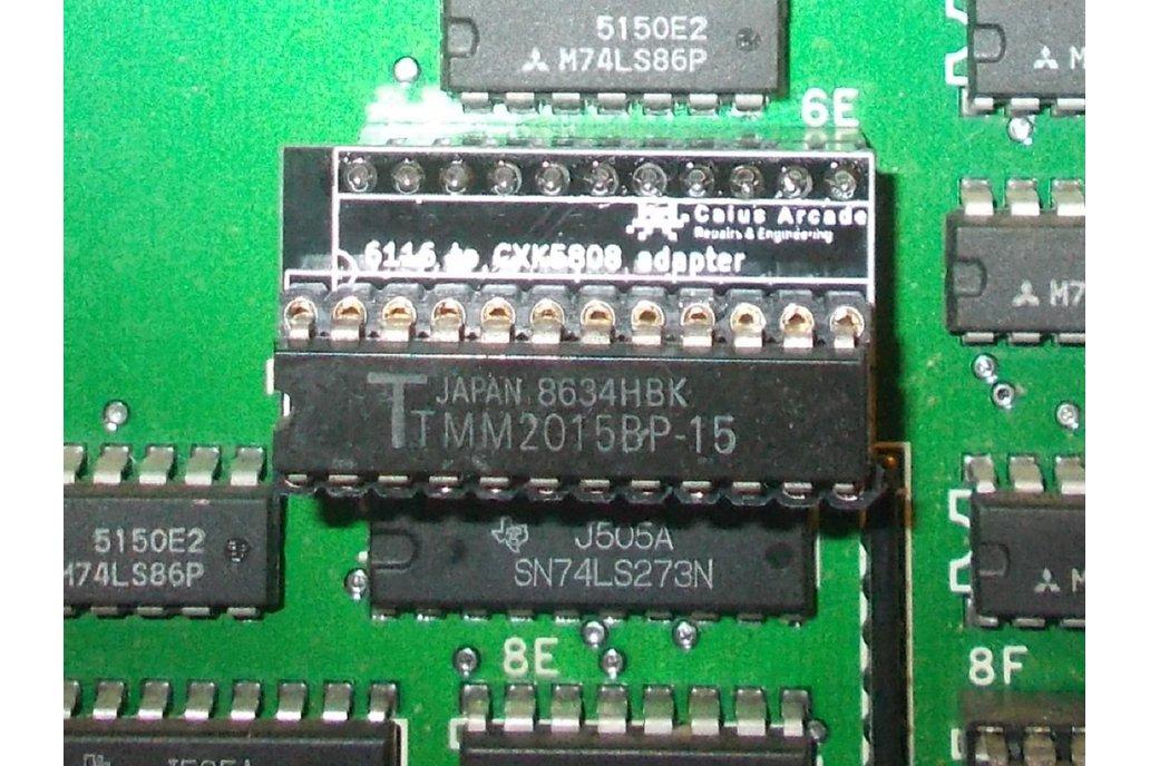 6116 to Sony CXK5808 RAM adapter 1