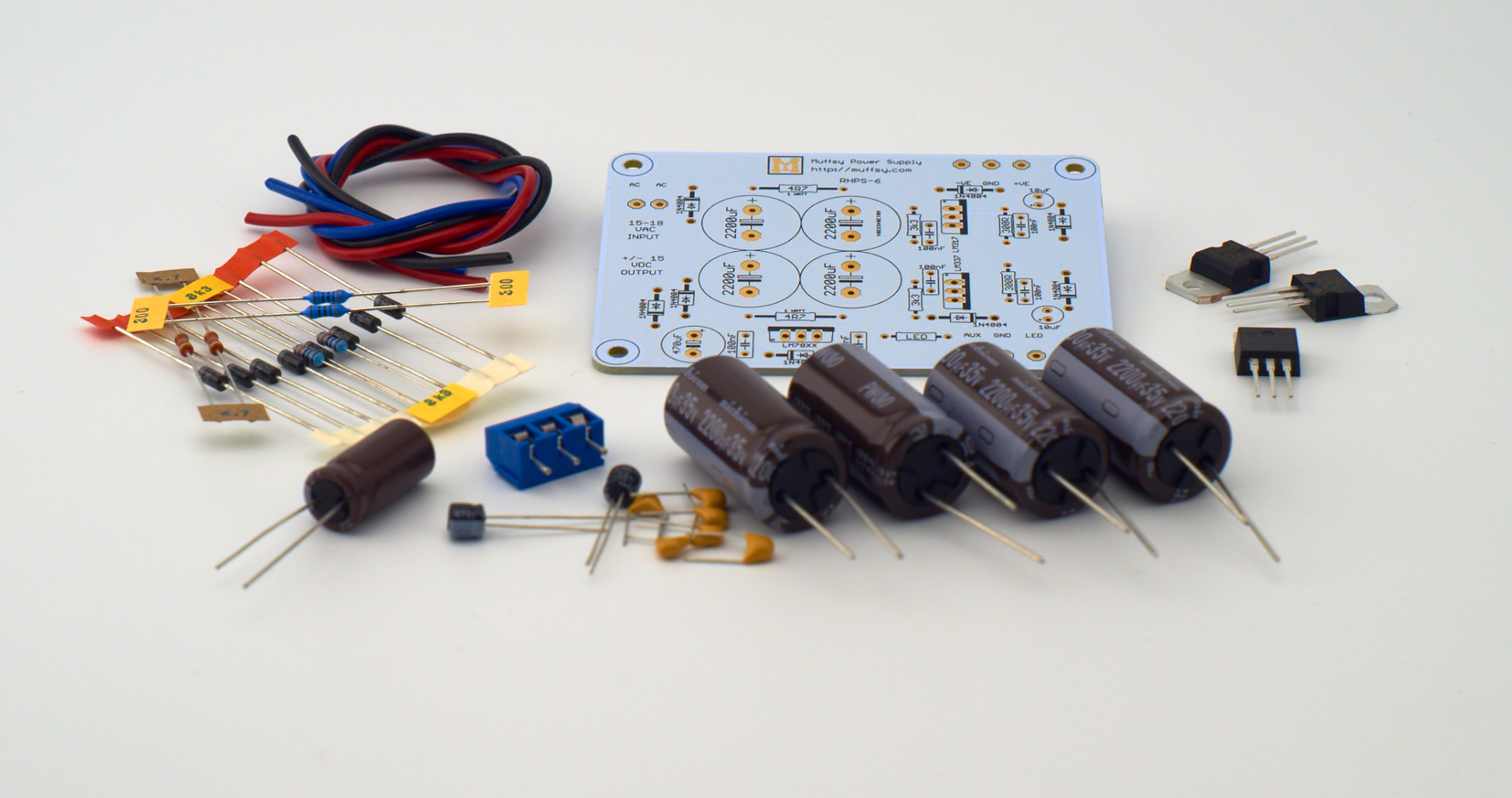 Muffsy Hifi Dual Power Supply V4 Kit From On Tindie Amp Wiring With Capacitor 2