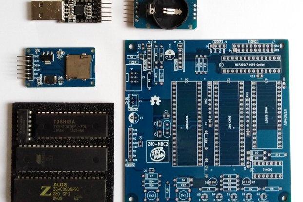 Z80-MBC2 essential kit PCB/IC pre-programmed