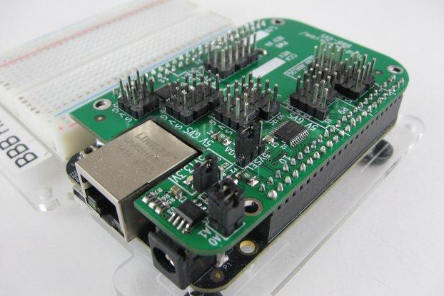 3.3V/5V Beaglebone Sensor Conn Cape (BBB-GVS)