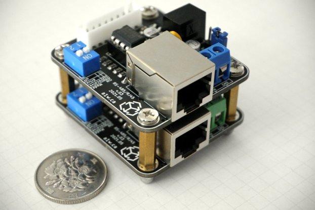 μDiff: Power+Data to LEDs and devices over RJ45