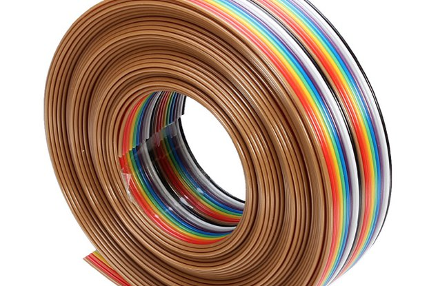 5M Rainbow Flat Line Cable Support Wire Soldered