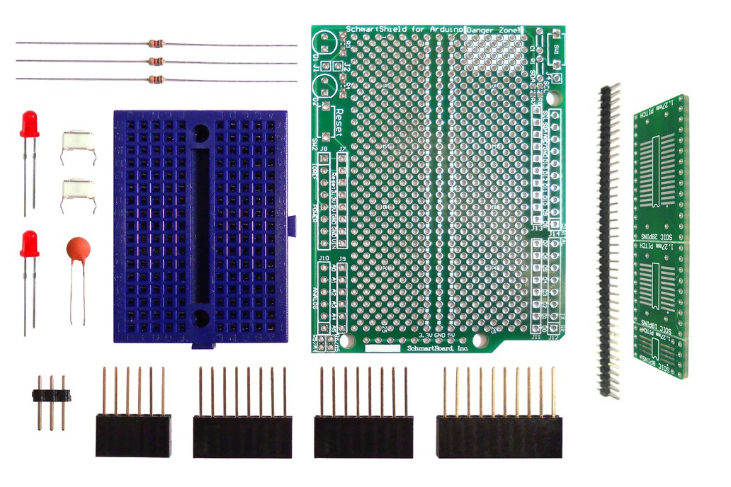 SchmartBoard|ez 1.27mm Pitch SOIC to DIP adapter Surface Mount Arduino Uno Shield Kit 1