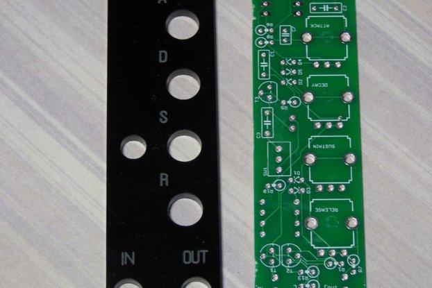PCB/panel for Eurorack ADSR generator (5HP)