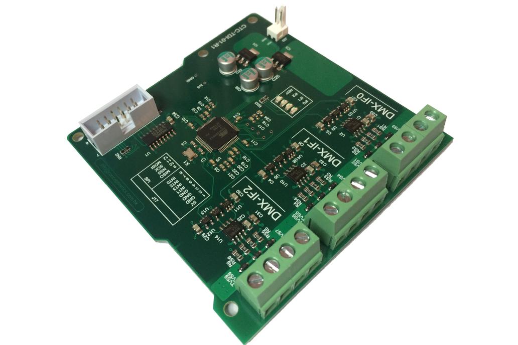 SPI to DMX controller (3 onboard DMX Interfaces) 1