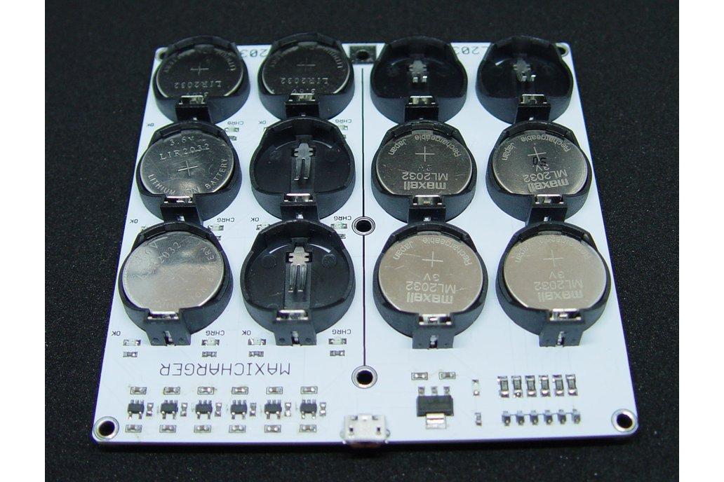 USB Coin Cell Battery Charger (6xLIR2032/6xML2032) 2