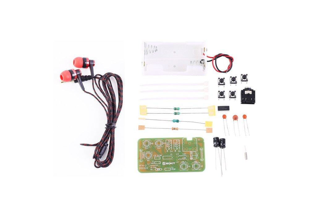 DIY Kit FM Stereo Radio Module w/ Headset_GY18043 1