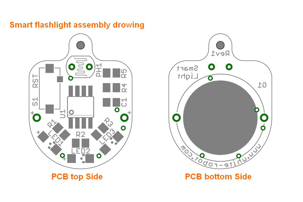 Light sensing smart LED flashlight KIT 4