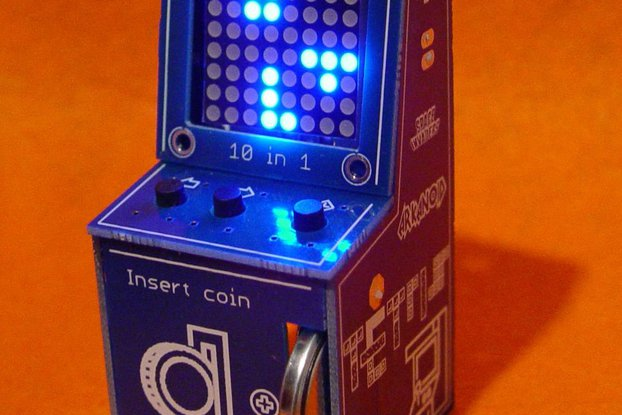 LedCade - µ arcade game cabinet - 8x8 LED matrix