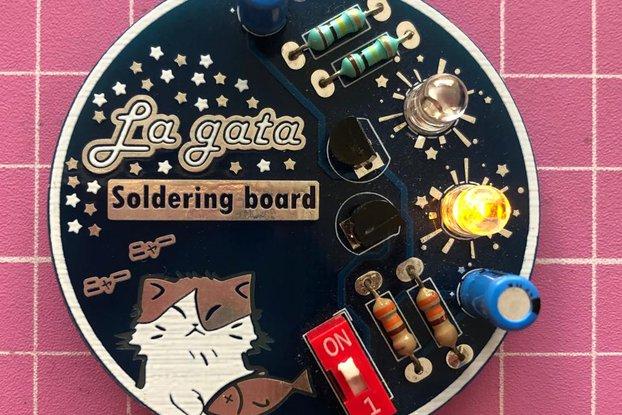 Cat soldering badge