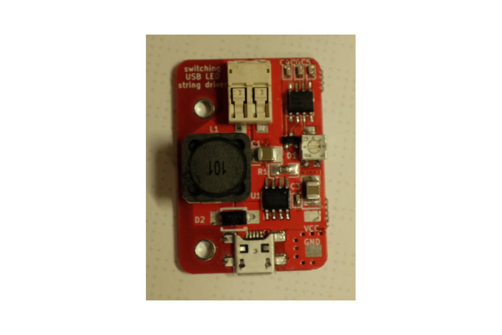 Switching USB LED string driver 1