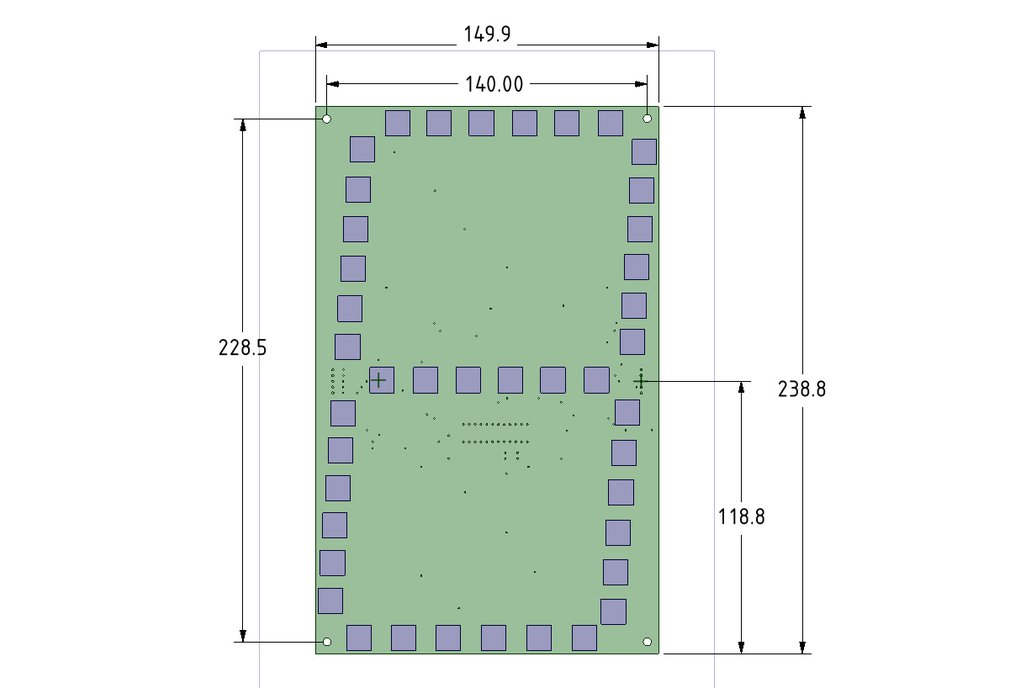"Large 7 Segment (10""-250mm) Display PCB 3"