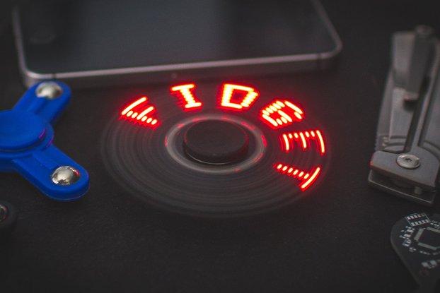 Arduino POV Fidget Spinner