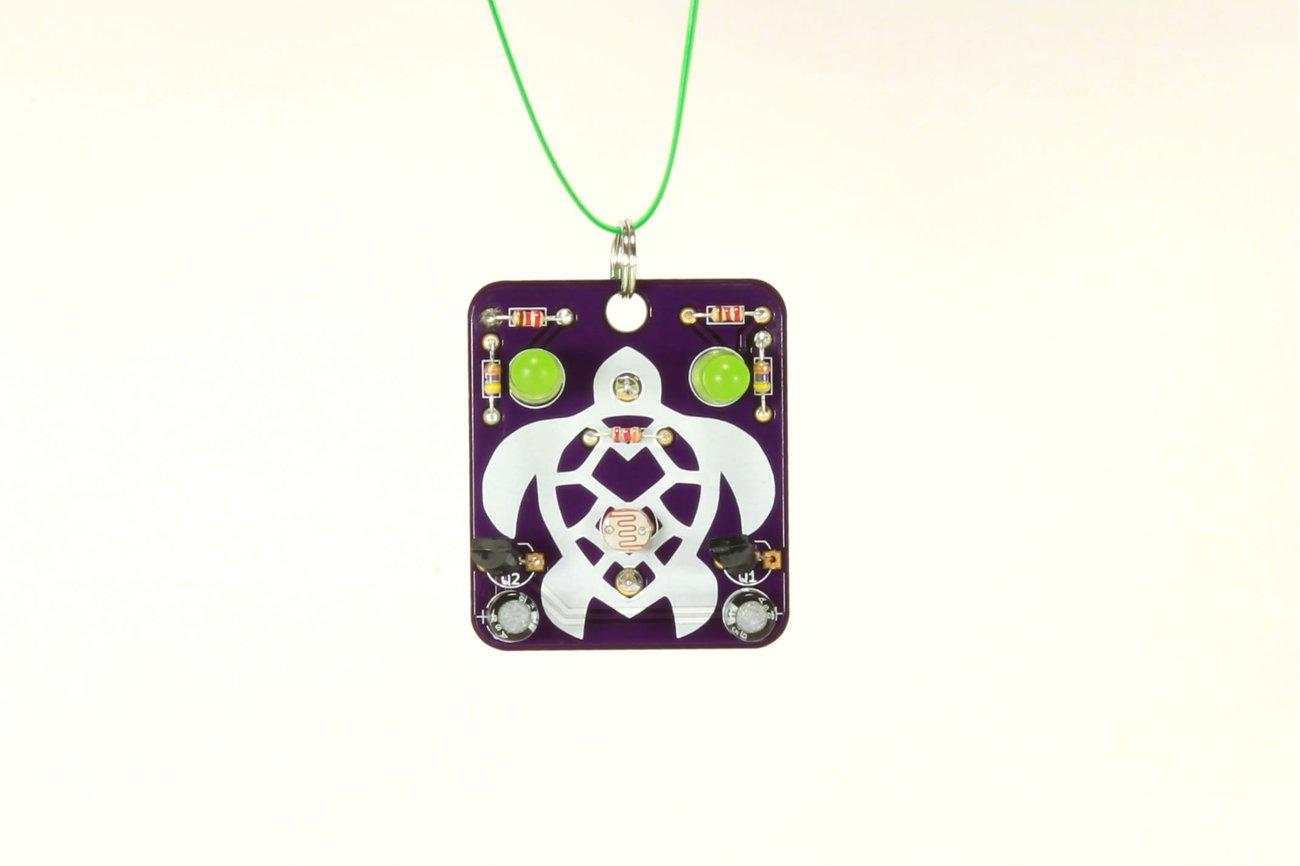 Turtle: Wearable Blinky-Board Soldering Skills Kit