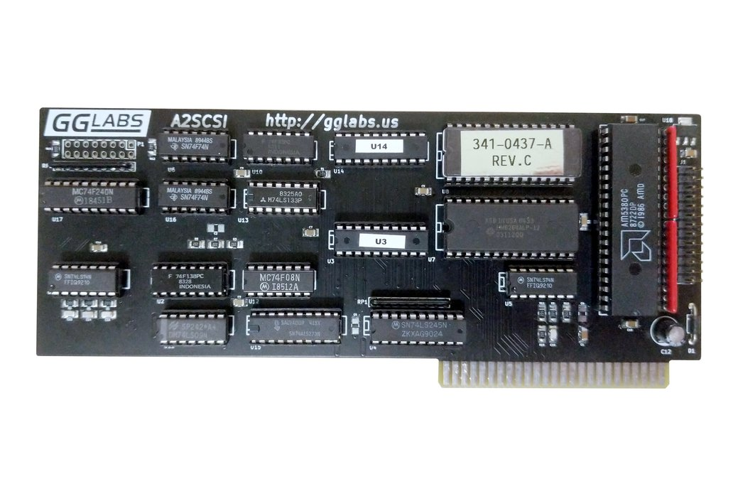 A2SCSI - SCSI Card for Apple II IIgs IIe II+ 1