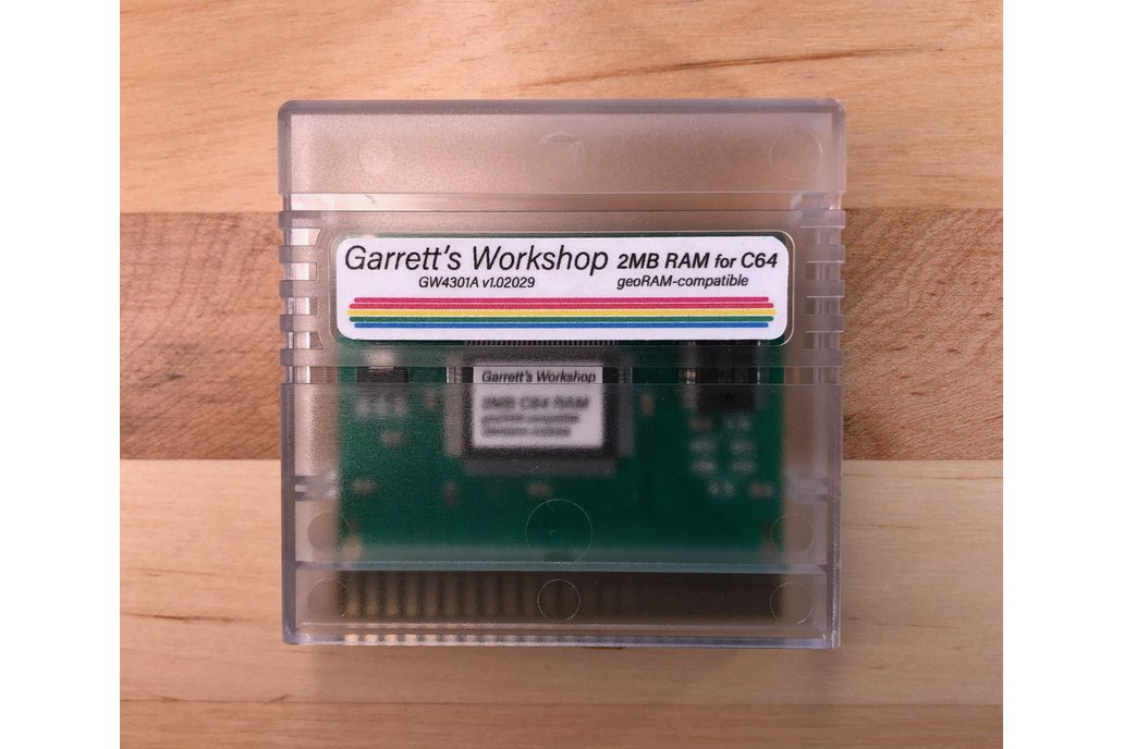 GW4301A -- 2MB RAM for C64 -- geoRAM compatible 1