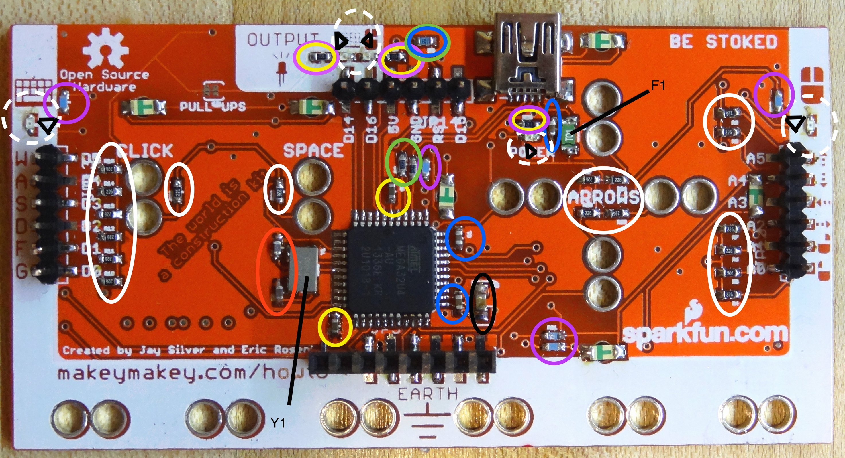 Makeymakey Pcb Only From Tomkeddie On Tindie Circuit Board Maker Buy Printed Makerpcb 2