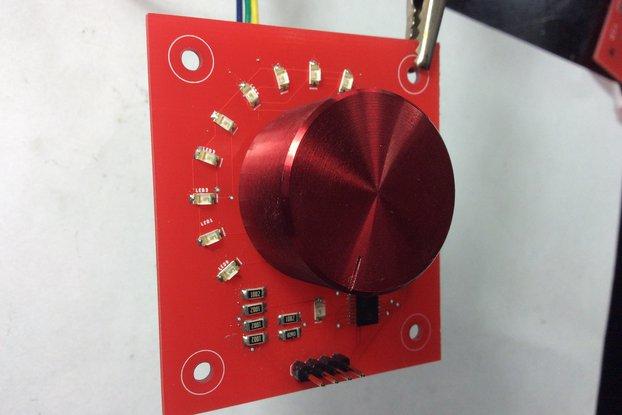Rotary encoder w/ circular LEDs