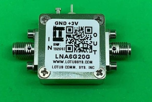 Amplifier LNA 2.5dB NF 6GHz to 20GHz