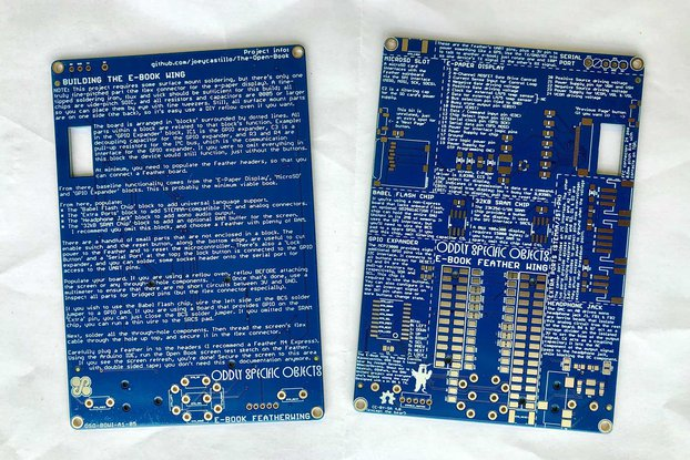 The E-Book Wing PCB (Bare PCB)