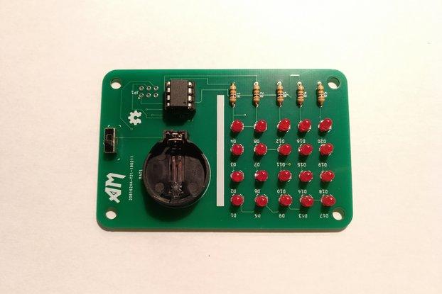 ATtiny LED Matrix Display Badge