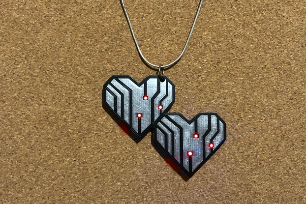 Hearts LED pendant