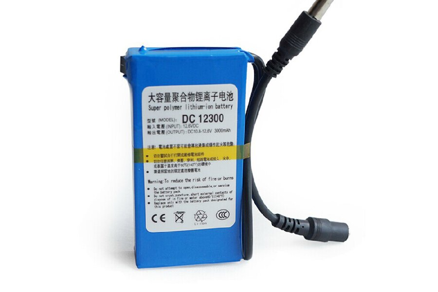 12V 3Ah 36Wh LiPo Battery+Charger Lithium Polymer
