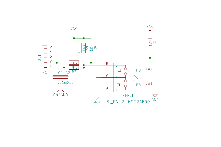 Mountable rotary encoder breakout