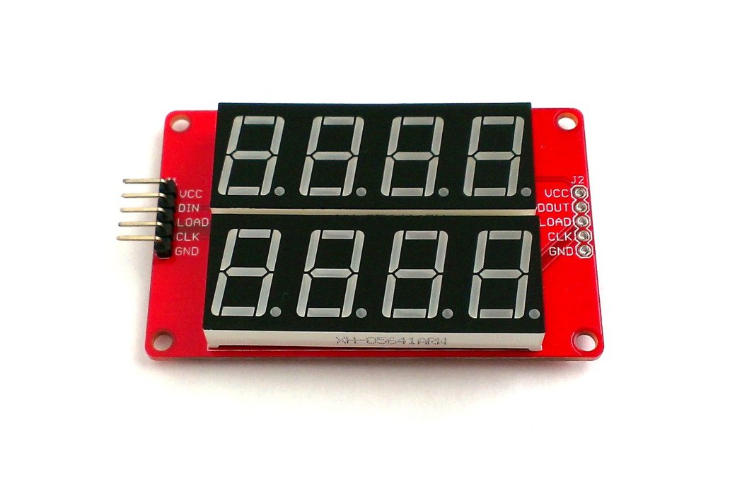 Double row 4-digit seven segment LED display-BLUE 2