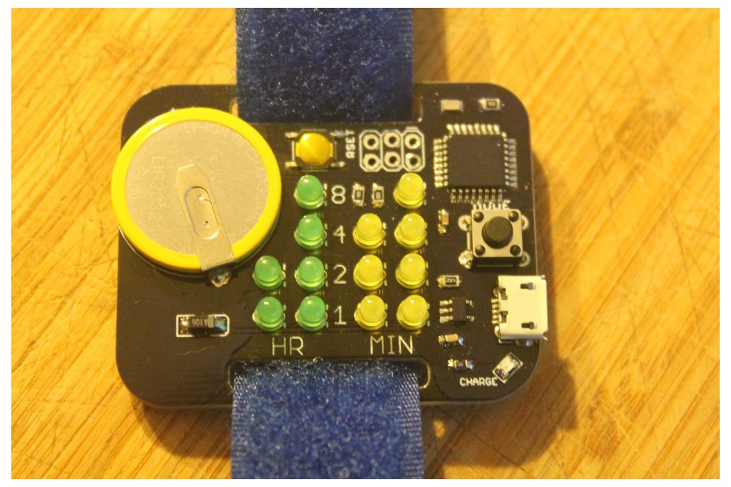 Simple Rechargeable Binary Watch 2