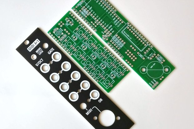 MIDI 4+1: a 4x CV/gate interface (PCB + Panel)