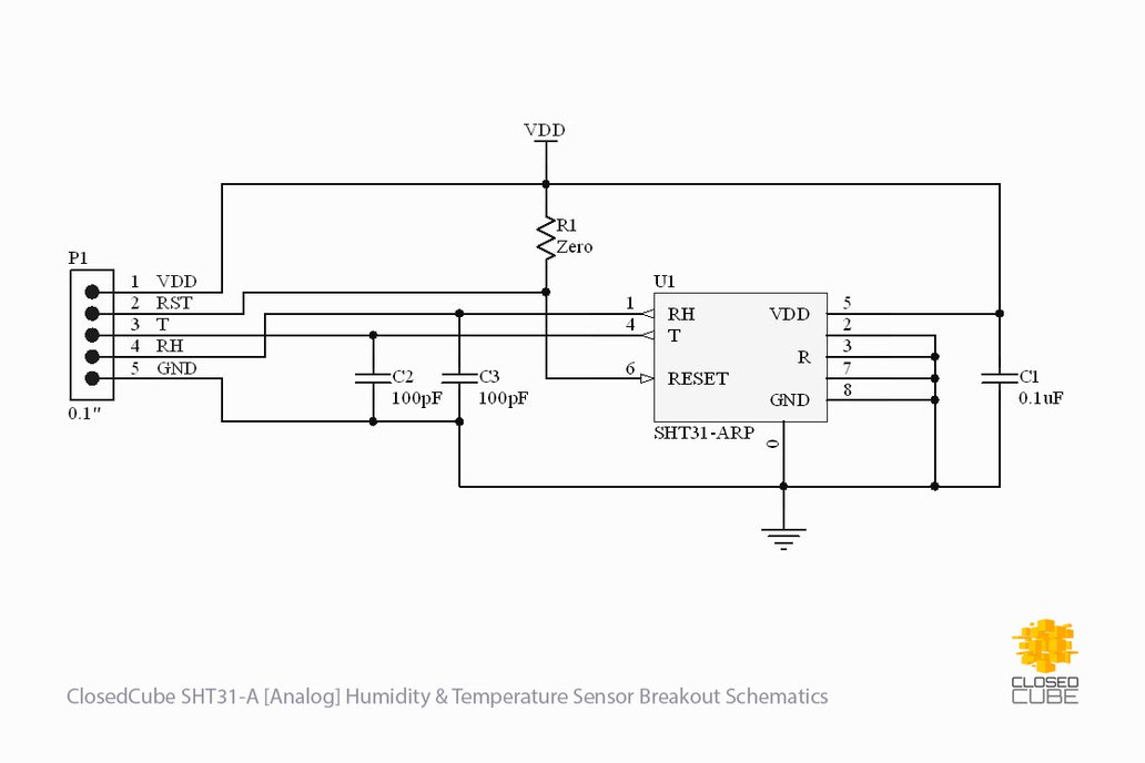 SHT31-A (Analog) Humidity & Temperature Sensor 7