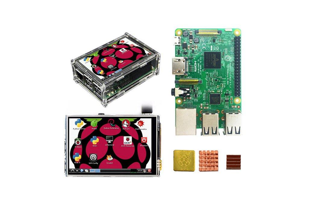 Raspberry Pi 3 Model B - Board + 3.5 in Display 1