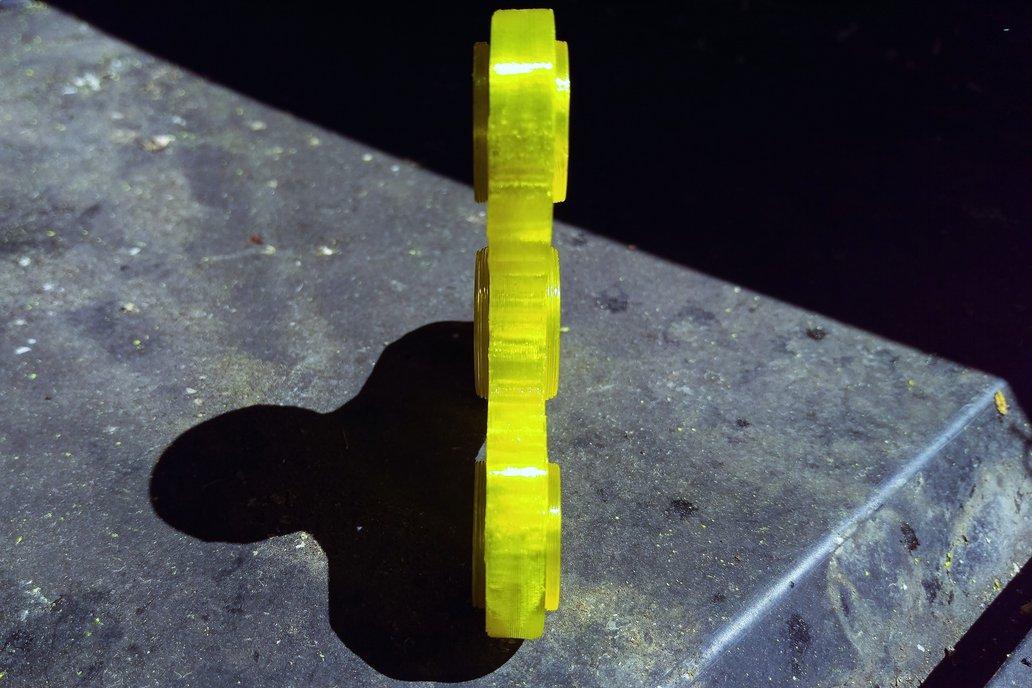 """The Voronoi"" Tri Spinner 3d Printed Fidget Spinne 4"