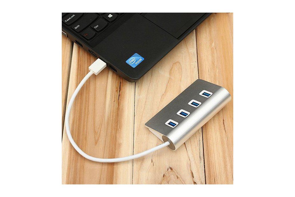 Hi-Speed Aluminum USB 3.0 4-Port Splitter Hub Adap 6