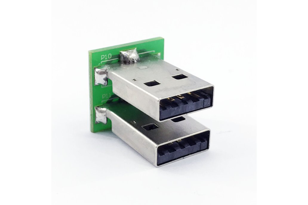 Dual USB male header plug breakout (FFC socket) 1