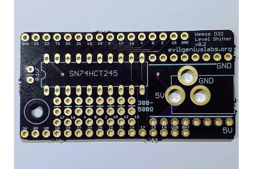 Wemos D32 ESP32 LED & Level Shifter Shield 1