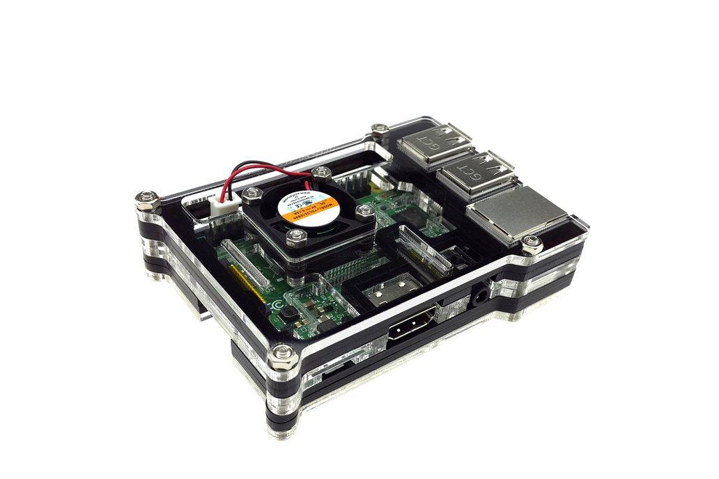 Raspberry Pi 3  Acrylic Case With Fan 2