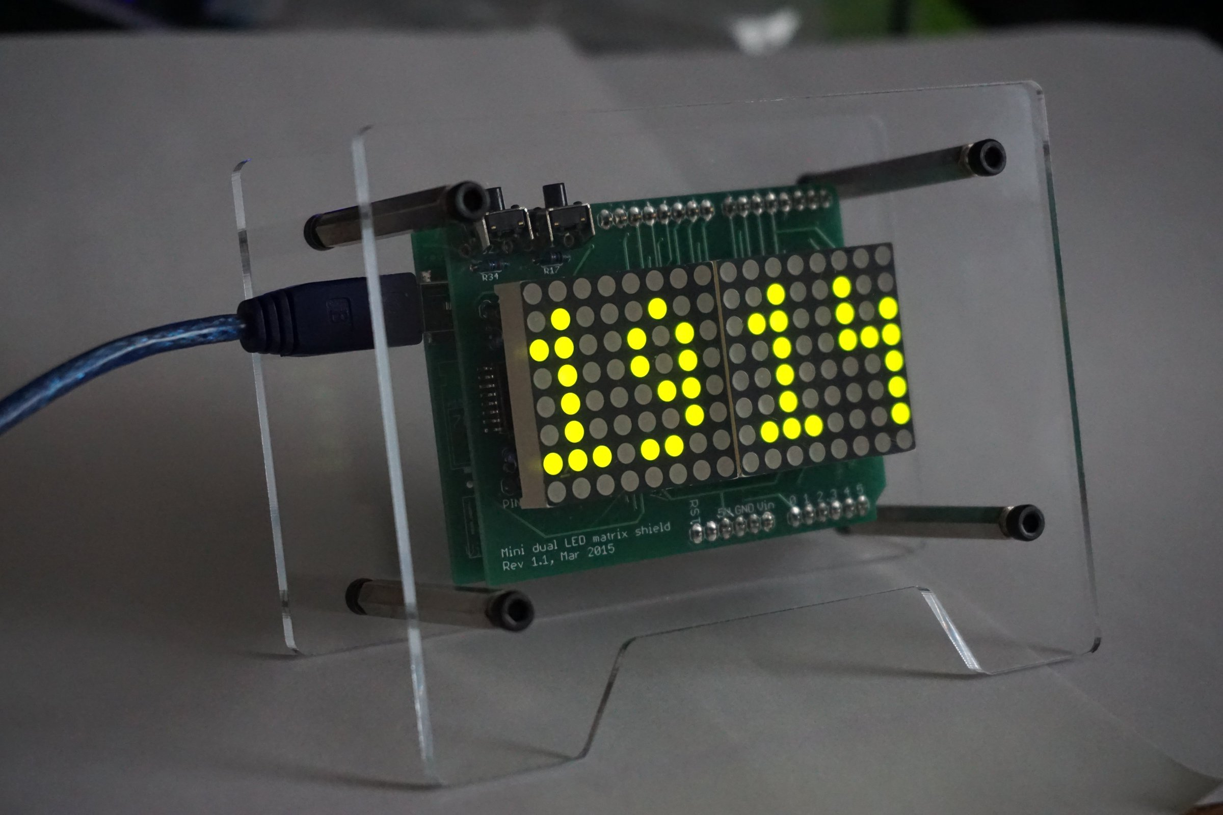 Basic Led Matrix Clock From Florinc On Tindie Using Pic Microcontroller 1