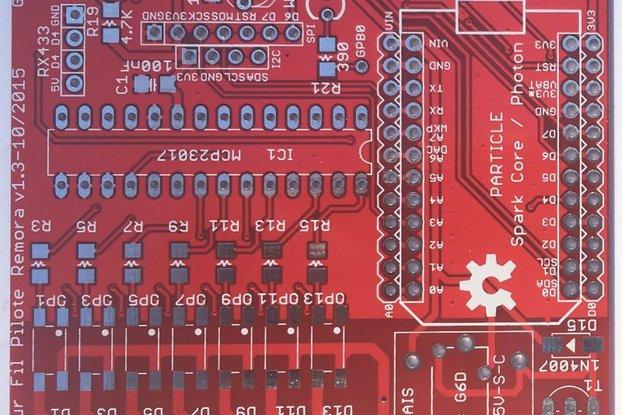 Remora + NodeMCU adapter bare PCBs