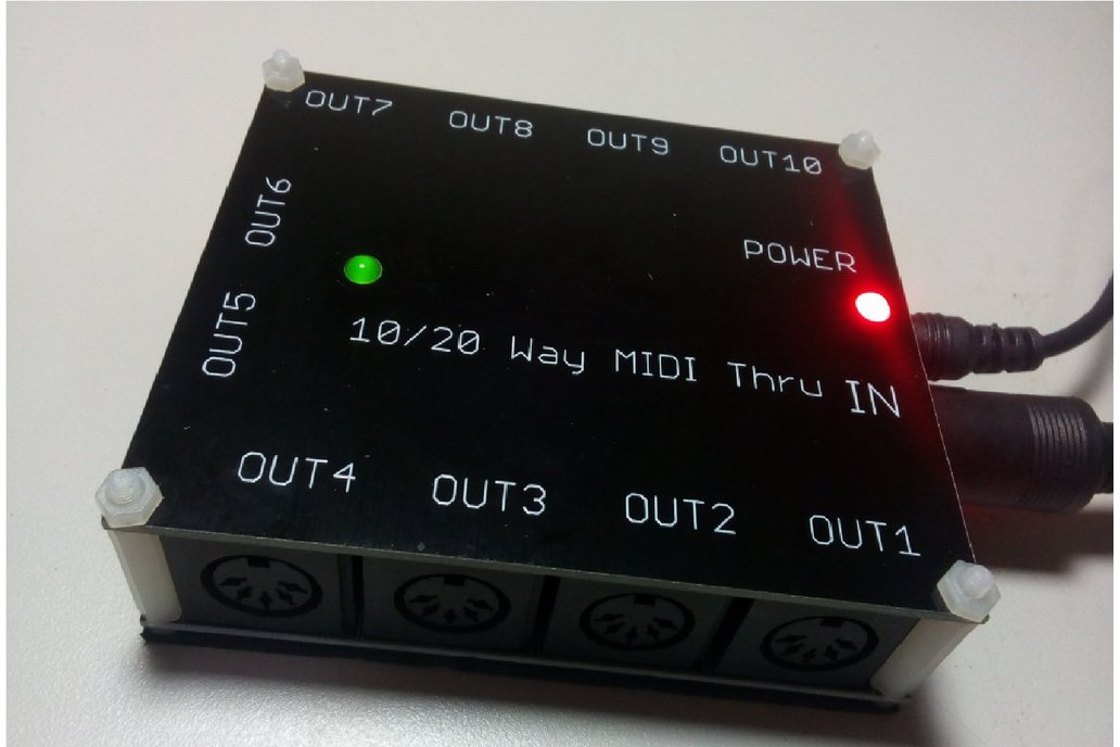 10 way MIDI Thru Splitter unit for synthesizers 1