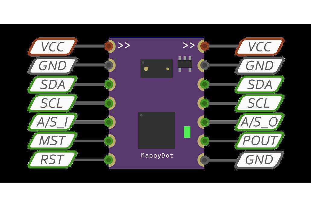 MappyDot: Micro Smart LiDAR Sensor (Vl53L0X) 2
