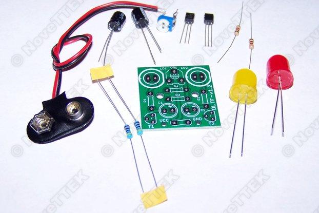 2x Pack Dual JUMBO LED Adjustable Flasher Kits
