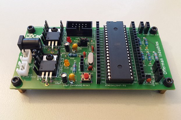 ATmega1284 dev board with 5V & 3.3V I2C and power