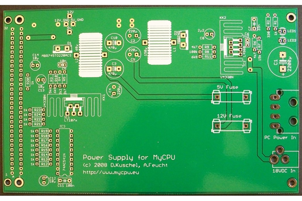 MyCPU - Set of Blank Printed Circuit Boards 8
