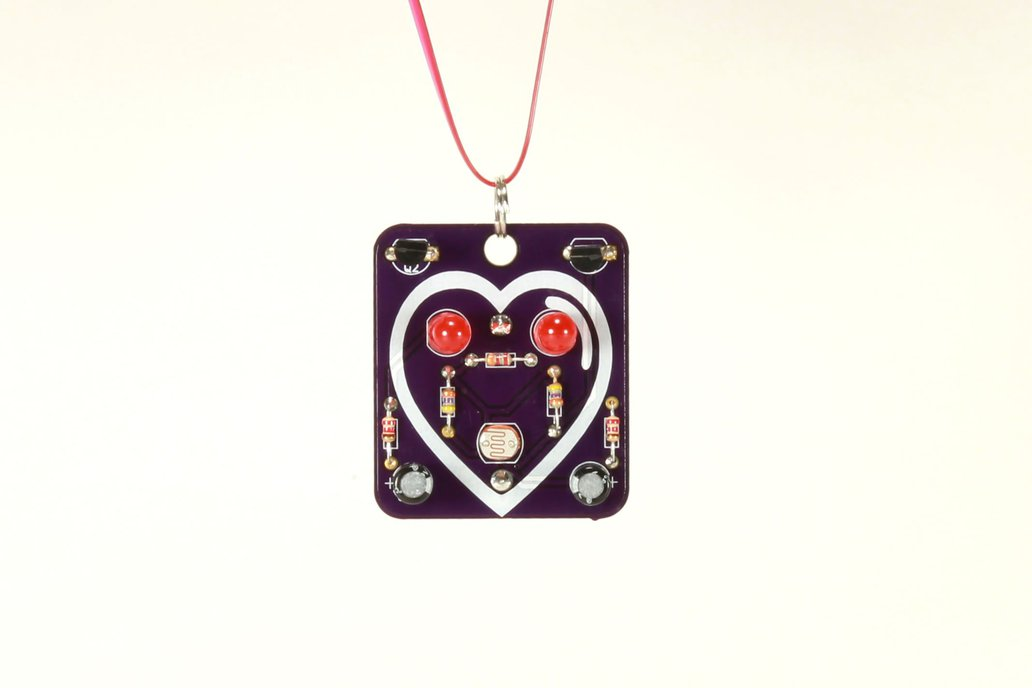 Heart: Wearable Blinky-Board Soldering Skills Kit 1