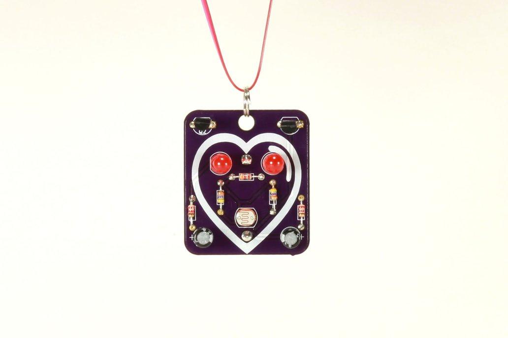 Heart: Wearable Blinky-Board Soldering Skills Kit 1