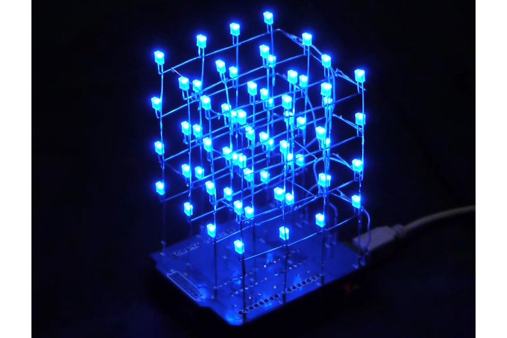 Icstation 4X4X4 Light Cube Kit for Arduino(5312) 1