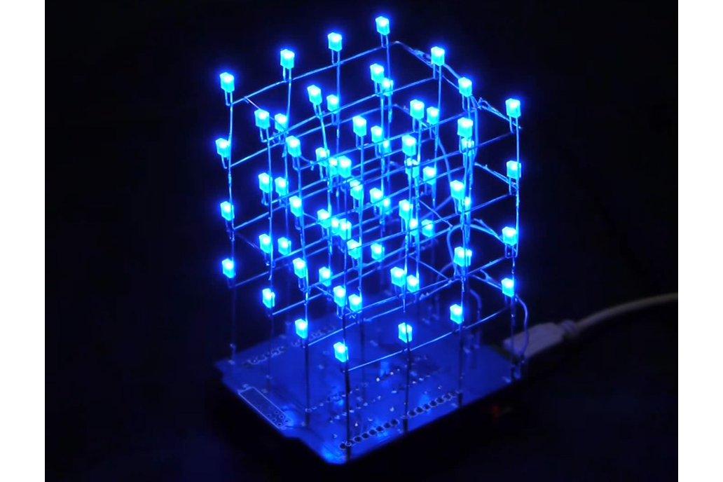 Icstation 4X4X4 Light Cube Kit for Arduino(5312) 1